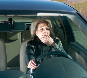 Drowsiness Linked to Falling Asleep at the Wheel