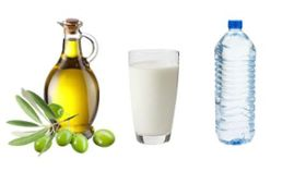 Halt Hunger with Milk, Olive Oil and Water