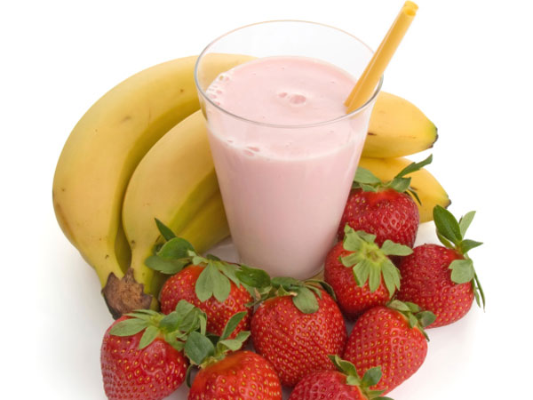 Strawberry-Banana-Flax Seed Smoothie