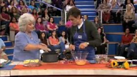 Paula Deen Cooks Healthier Mac and Cheese