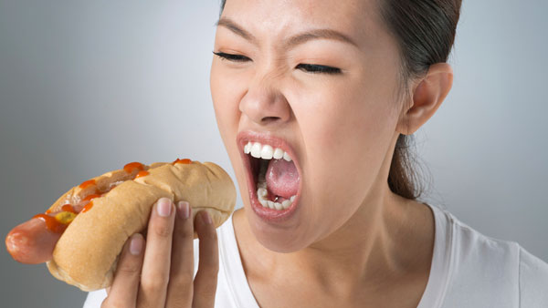 bingeing junk food